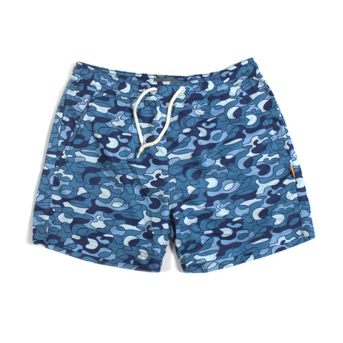 "Pool Camo Print 15"" Swim Shorts Blue"