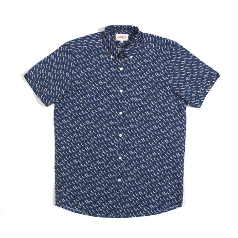 Swimmers Print Short Sleeve Shirt Navy