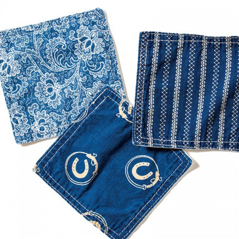 BasShu Weave Assorted Indigo Dyed Coasters (set of 6)