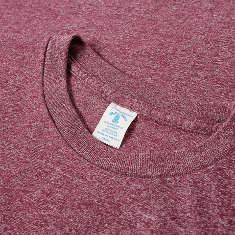 50/50 Circular Knit Pocket Tee - Heather Burgundy