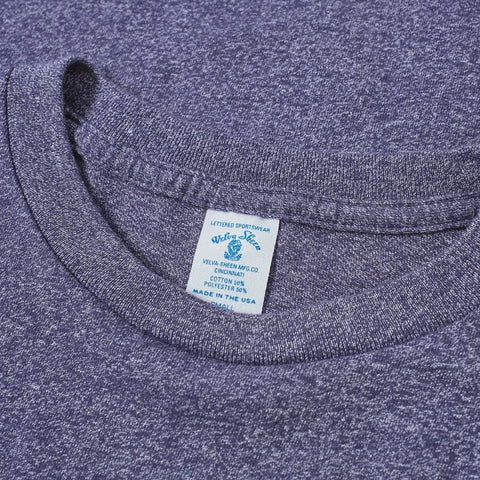 50/50 Circular Knit Pocket Tee - Heather Navy