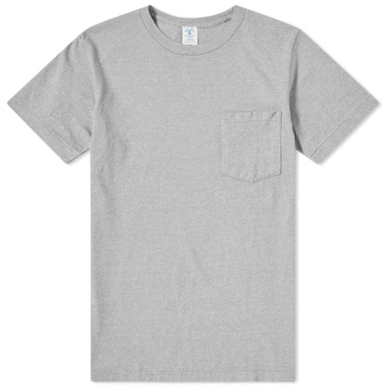 50/50 Circular Knit Pocket Tee - Heather Grey