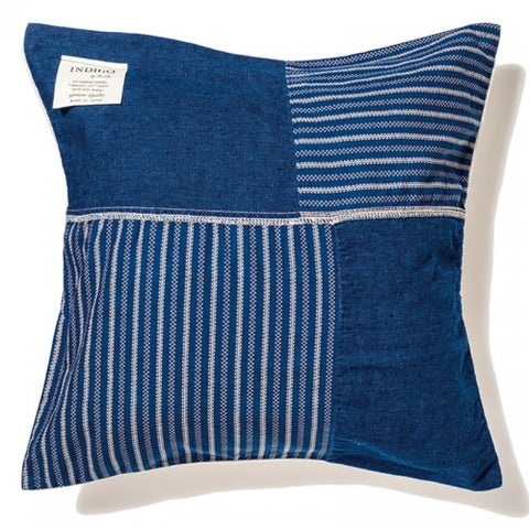 BasShu Wabash Indigo Dyed Cushion Cover