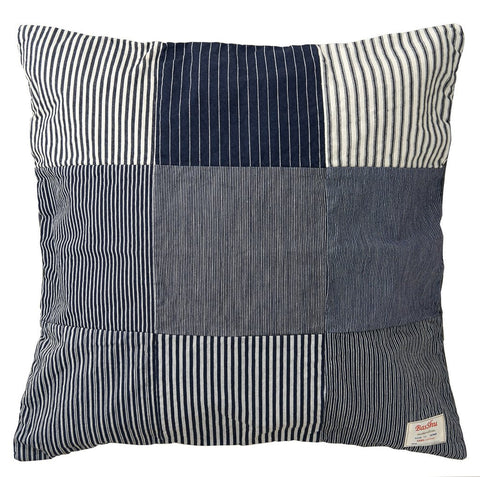 BasShu Denim Patchwork Cushion Cover
