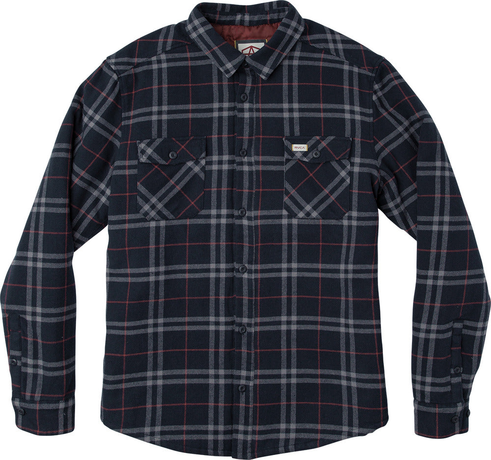 Andrew Reynolds Plaid Lined Flannel New Navy