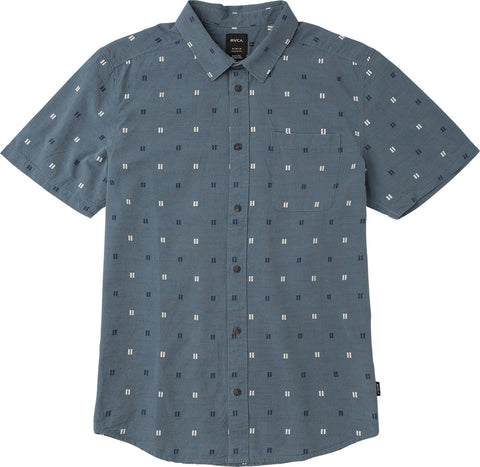 Sons Box Jacquard Button Down Slate Blue