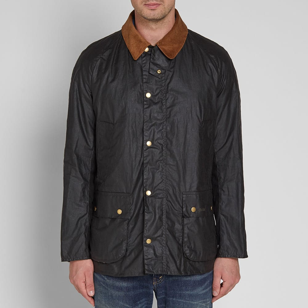 Waxed Lightweight Ashby Jacket Dark Olive