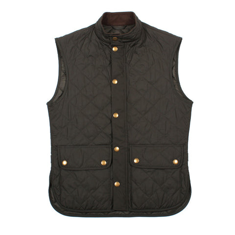 Lowerdale Quilted Vest Dark Green