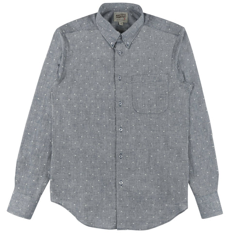 Regular Shirt Bowtie Dobby Chambray Indigo
