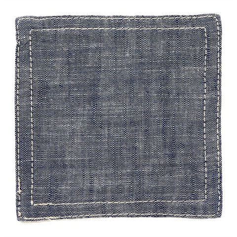 BasShu Weave Navy Chambray Coasters (set of 6)