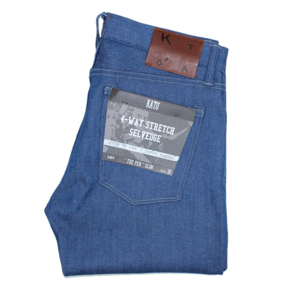 """The Pen"" 10.5 oz Slim 4-Way Stretch Selvedge - Cobalt"