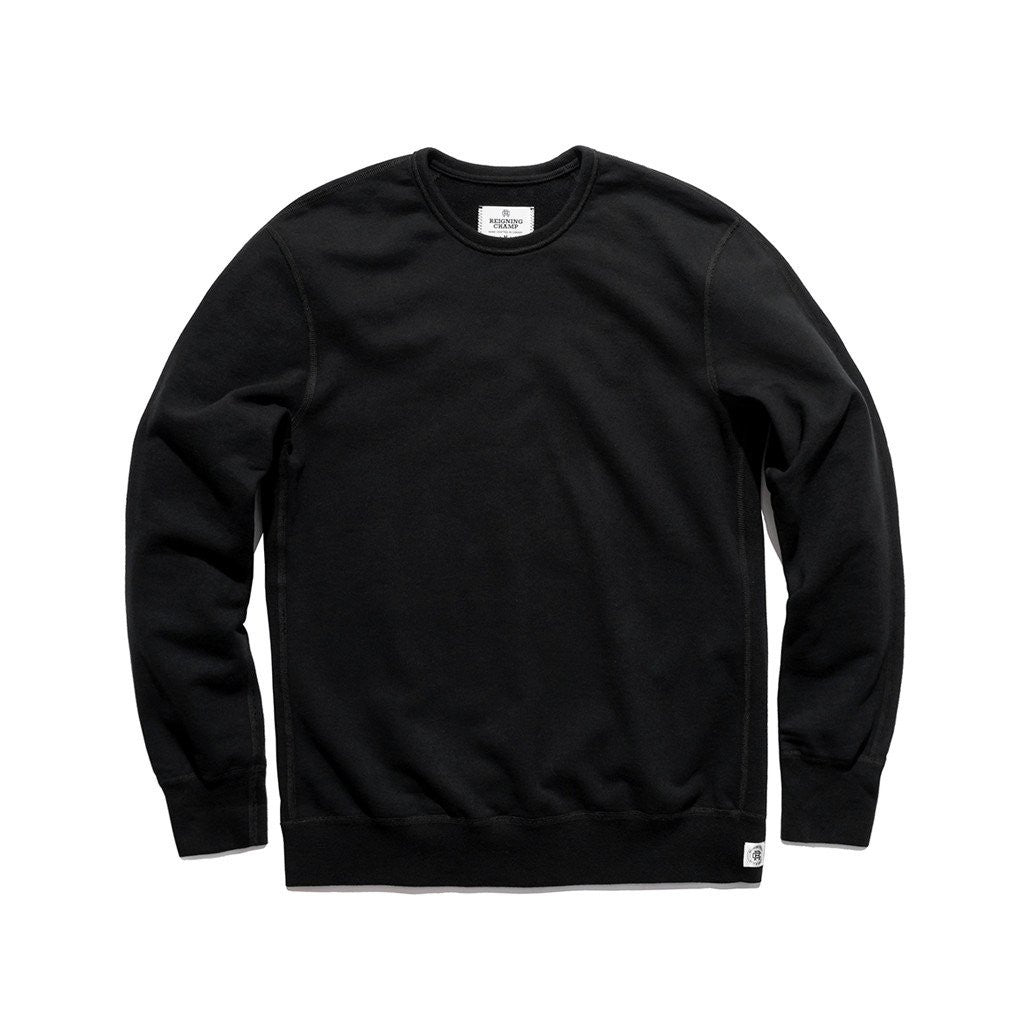 Midweight Twill Terry Crewneck Black