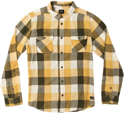 Campbell Bros. Buffalo Plaid Workshirt Gold/Army