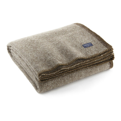 Lodge Twill Wool Throw Coffee
