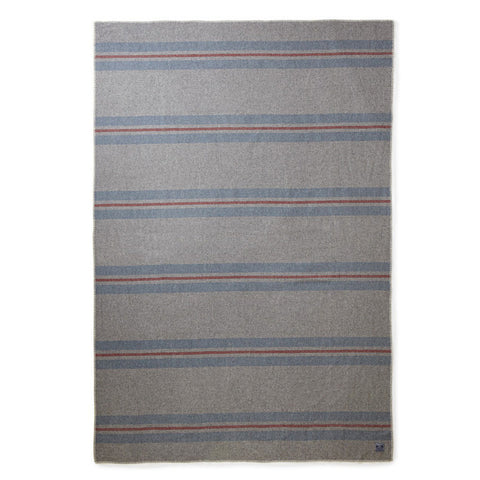 Cabin Wool Blanket Grey Blue Red