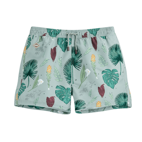 "Flower Power 14"" Swim Shorts"