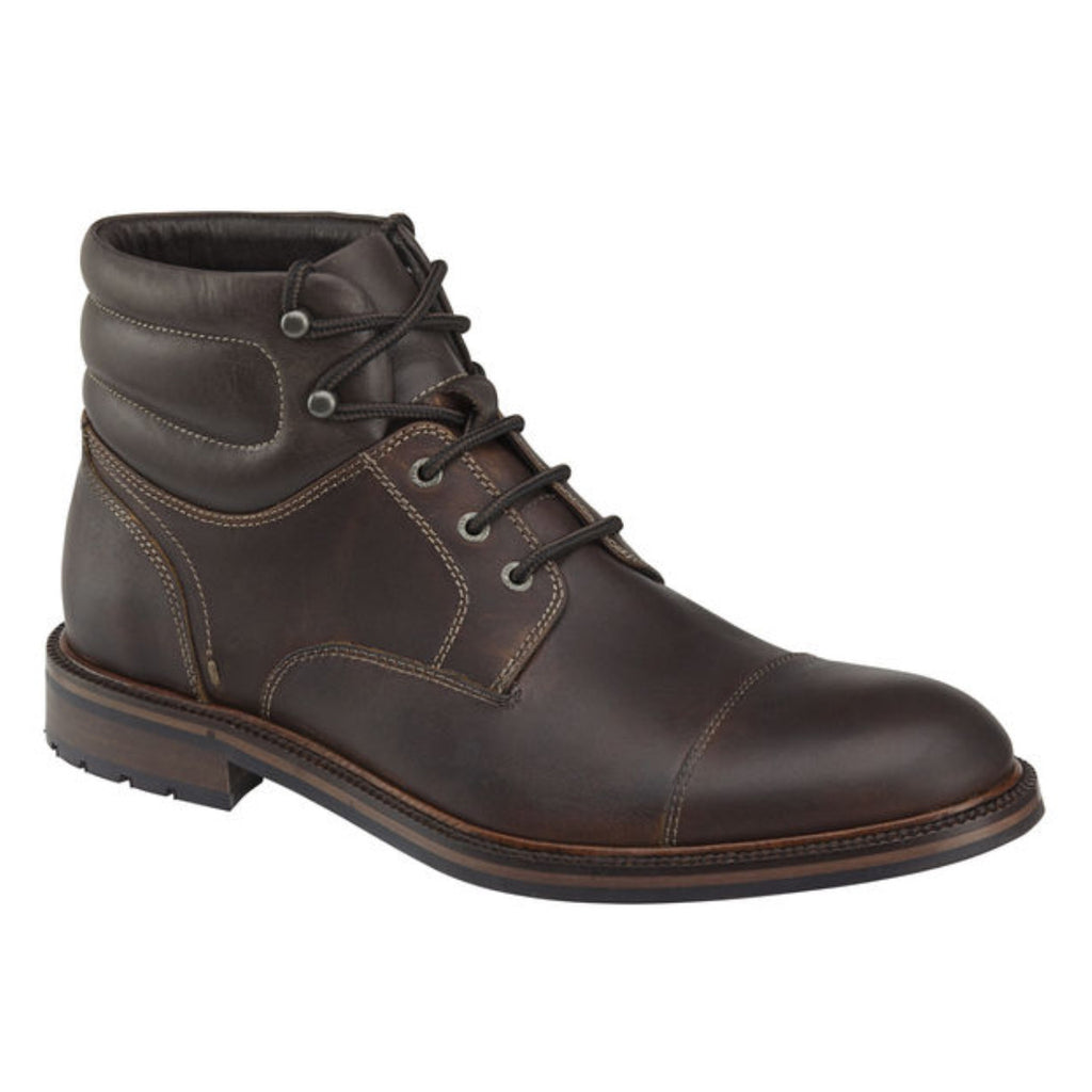 Fulton Cap Toe Boot Dark Brown