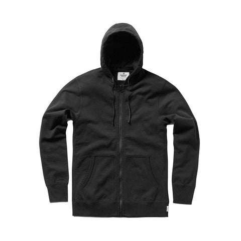 Full Zip Heavyweight Hoodie Black