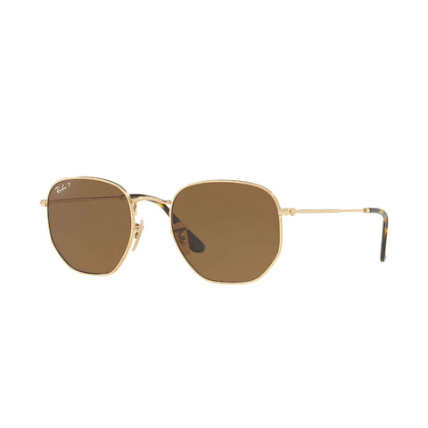 Hexagonal Gold Brown B-15 Polarized