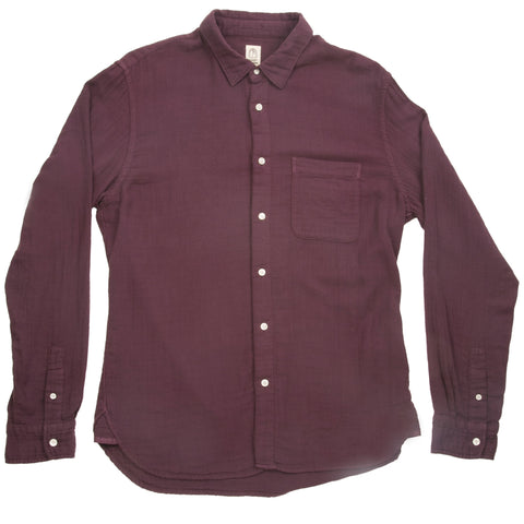 Japanese French Seam Chambray - Bordeaux
