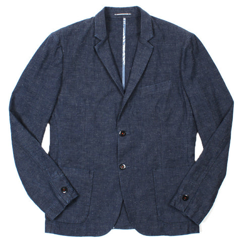 Japanese Chambray Blazer Blue