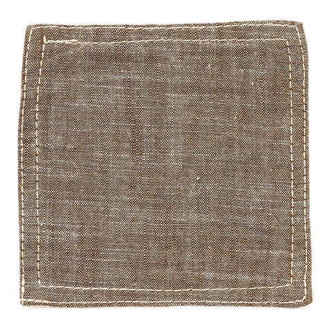BasShu Weave Khaki Chambray Coasters (set of 6)