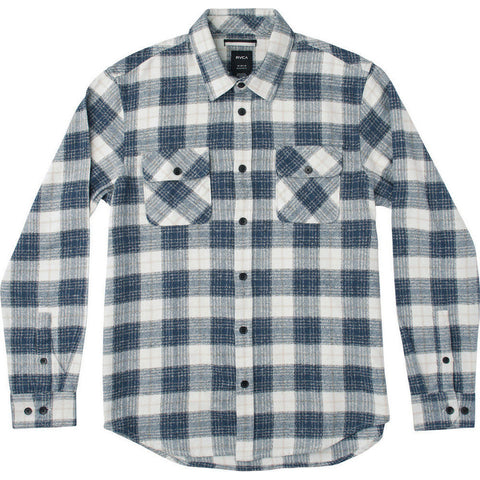 Lowland Long Sleeve Flannel Silver Bleach