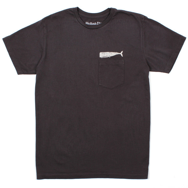 Olde Whale Pocket Tee Faded Black