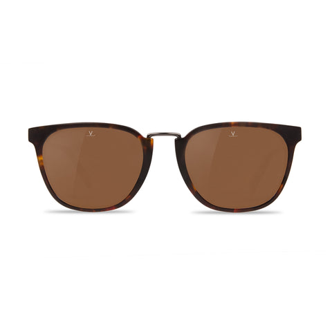 Medium Rectangular Cable Car Tortoise Pure Brown