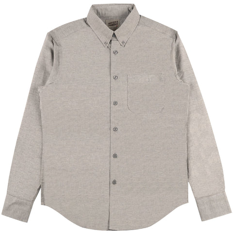 Regular Shirt Mini Stripe Gauze Grey