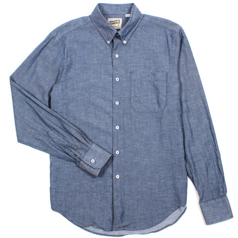 Regular Shirt Blue Nep Chambray