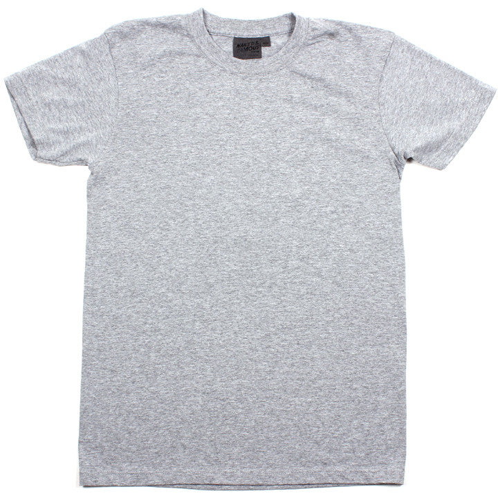 Vintage Circular Knit T-Shirt Heather Grey