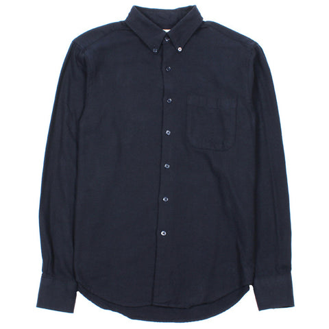 Regular Shirt Herringbone Soft Flannel Navy