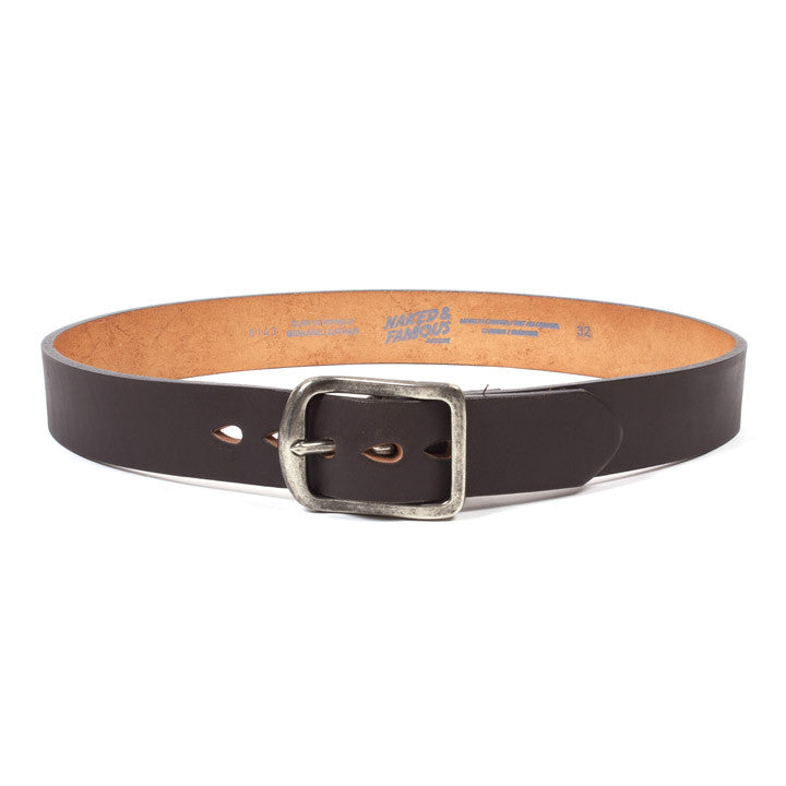 Thick Leather Belt Brown