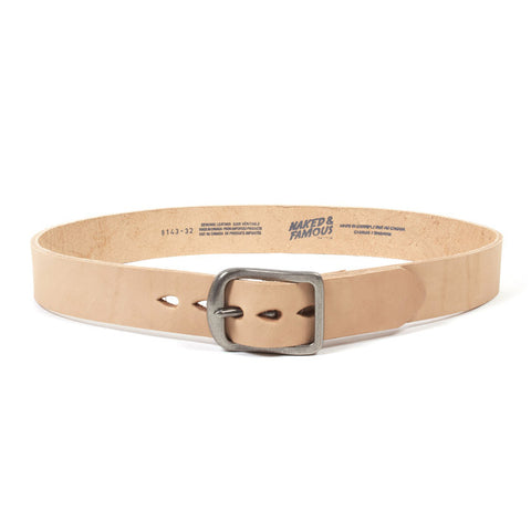 Thick Leather Belt Natural
