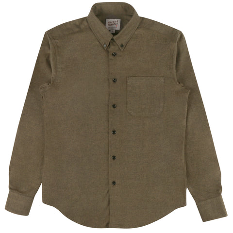 Regular Shirt Classic Flannel - Military Green