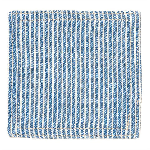 BasShu Weave Pinstripe Blue Coasters (set of 6)