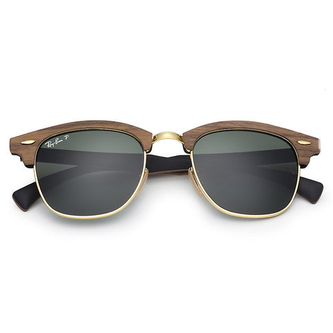 Clubmaster Wood Polarized Green G15