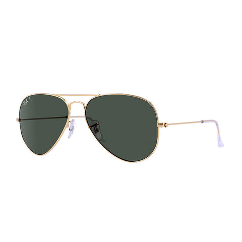 Aviator Gold Green Polarized