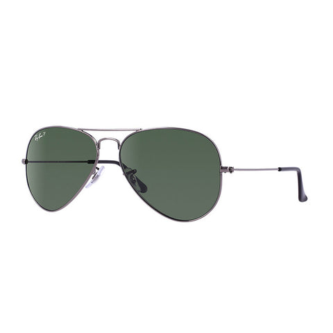 Aviator Gunmetal Green Polarized