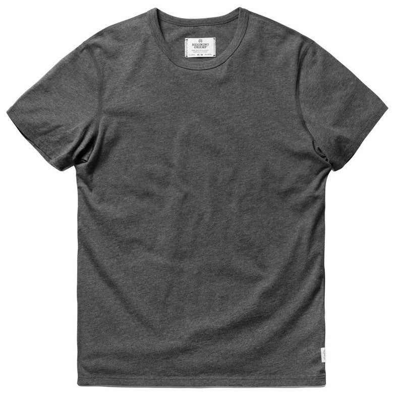 Ringspun Jersey Tee Heather Charcoal