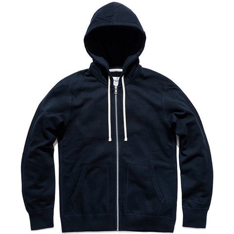 Full Zip Mid-Weight Hoodie Navy
