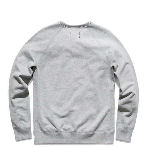 Midweight Twill Terry Crewneck Heather Grey