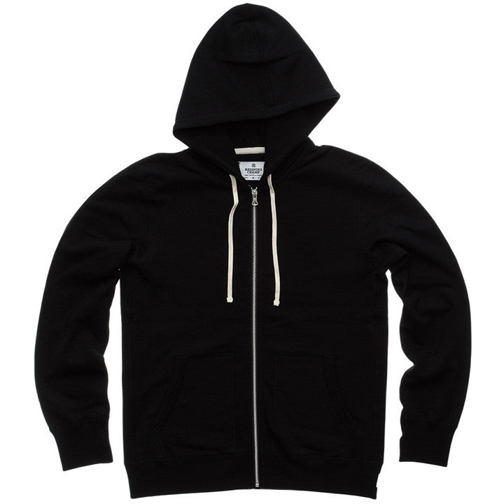 Full Zip Mid-Weight Hoodie Black