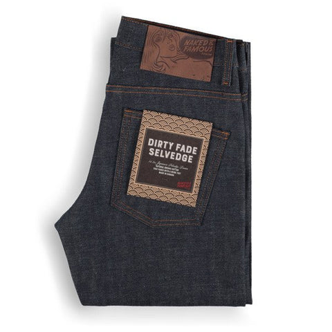 Slim Guy Dirty Fade Selvedge Indigo