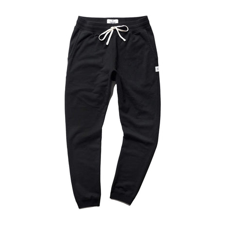 Slim Midweight Twill Terry Sweatpant Black