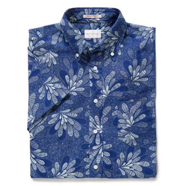 Short Sleeve Japanese Floral Oxford