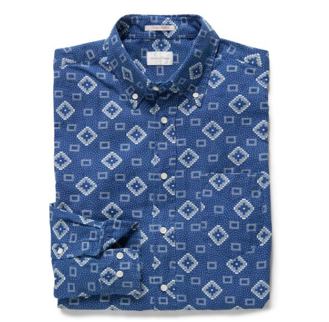 Indigo Geometric Shirt