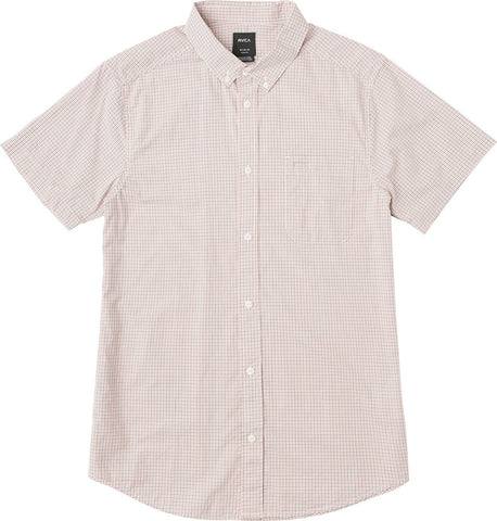 Staple Yarn Dye Plaid Button Down Red/White