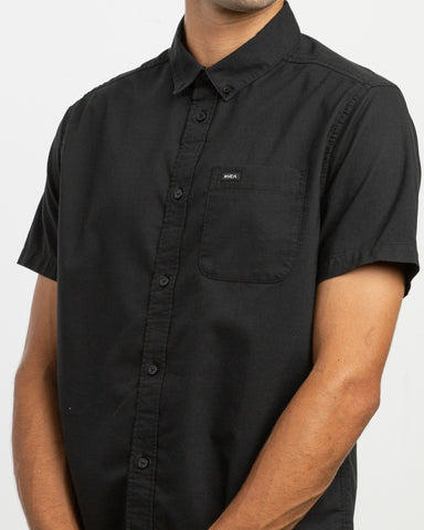 Short Sleeve Oxford Stretch - Black